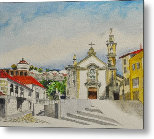 Porto Metal Print featuring the painting Untitled by T Aung