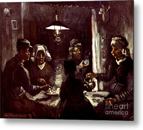 1885 Metal Print featuring the photograph Van Gogh: Meal, 1885 by Granger