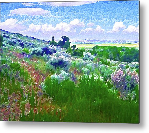 Abstract Metal Print featuring the photograph View From The Cabin Window 2 by Lenore Senior