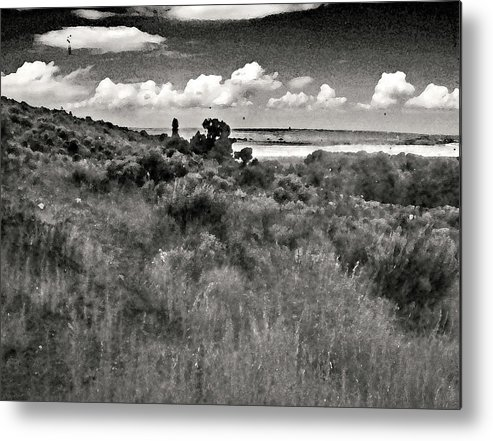 Abstract Metal Print featuring the photograph View From The Cabin Window by Lenore Senior