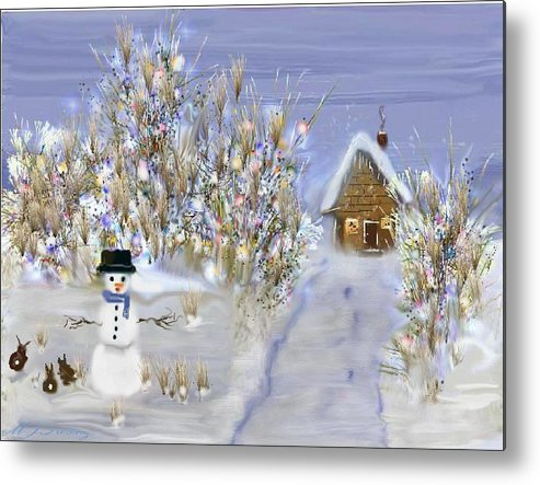 Snow Metal Print featuring the digital art Winter Wonderland by June Pressly