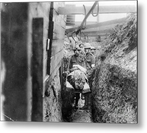 1910s Metal Print featuring the photograph World War I: France by Granger