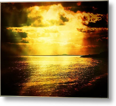 Landscape Metal Print featuring the photograph Yellow Sea by Jean-baptiste Ols