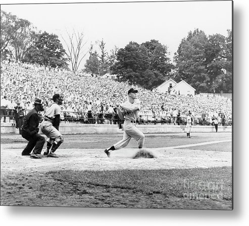 American League Baseball Metal Print featuring the photograph National Baseball Hall Of Fame Library 46 by National Baseball Hall Of Fame Library