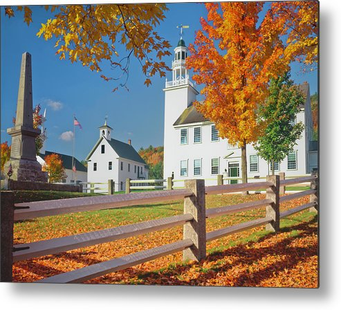 Scenics Metal Print featuring the photograph Autumn In New Hampshire by Ron thomas