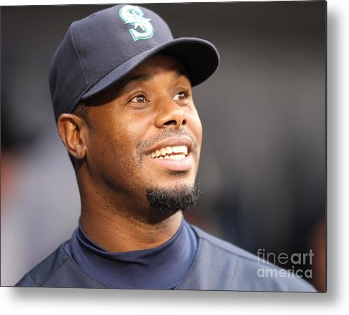 American League Baseball Metal Print featuring the photograph Ken Griffey Jr. Retires From Seattle by Otto Greule Jr