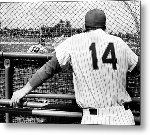 Baseball Catcher Metal Print featuring the photograph Mets Manager Gil Hodges Gets Catchers by New York Daily News Archive