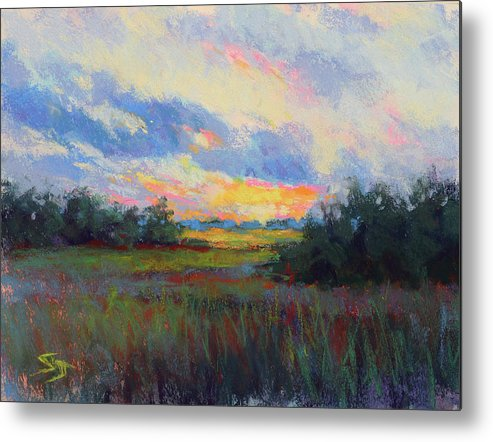 Sunset Metal Print featuring the painting Morning Blessings by Susan Jenkins