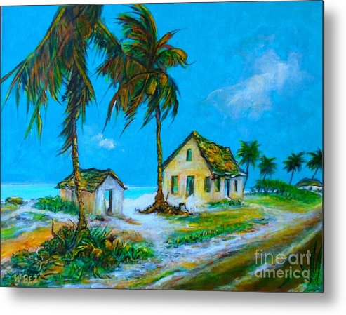 Bahama Art Metal Print featuring the painting Old Bahama Road by William Bezik