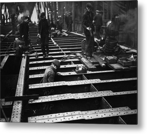 England Metal Print featuring the photograph Riveters by Hudson