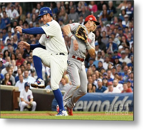 People Metal Print featuring the photograph Anthony Rizzo And Derek Dietrich by David Banks