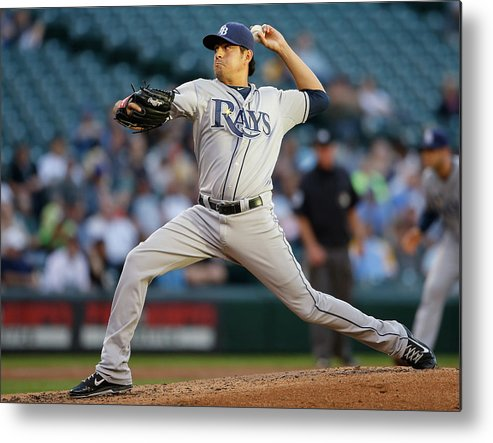 Second Inning Metal Print featuring the photograph Cesar Ramos by Otto Greule Jr