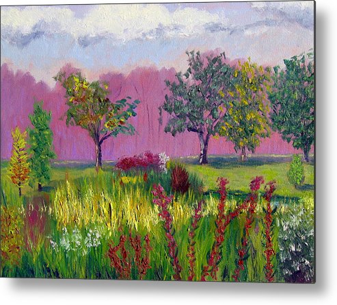 Landscape Metal Print featuring the painting Sewp 9 24 by Stan Hamilton
