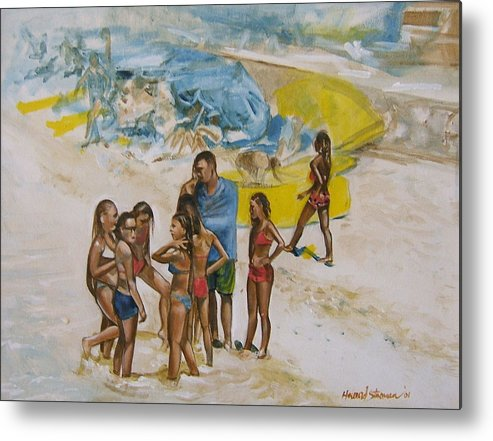 On The Beach Metal Print featuring the painting Untitled by Howard Stroman