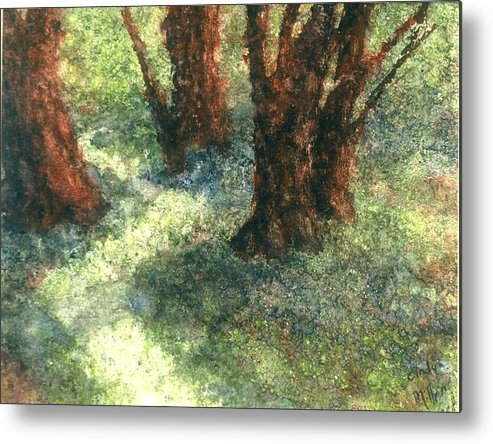 Watercolor Metal Print featuring the painting Difference by Cynthia Ann Swan
