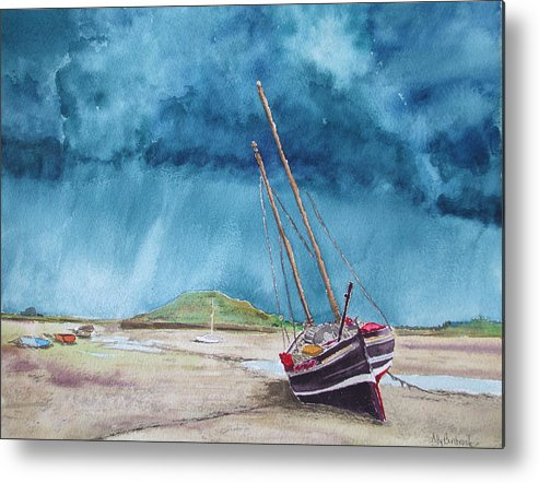 Ship Metal Print featuring the painting Rainmaker by Ally Benbrook