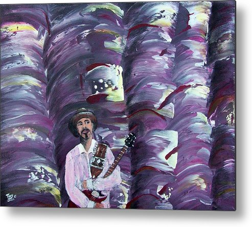 Abstract Metal Print featuring the painting Stage Fright by Tony Rodriguez