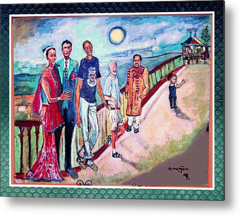 Diversity Metal Print featuring the painting The Billerica Portrait by Noredin morgan
