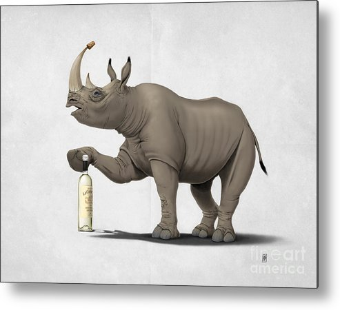 Illustration Metal Print featuring the mixed media Cork It Durer by Rob Snow