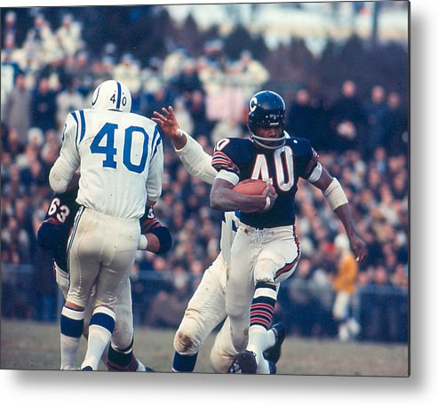 classic Metal Print featuring the photograph Gale Sayers by Retro Images Archive