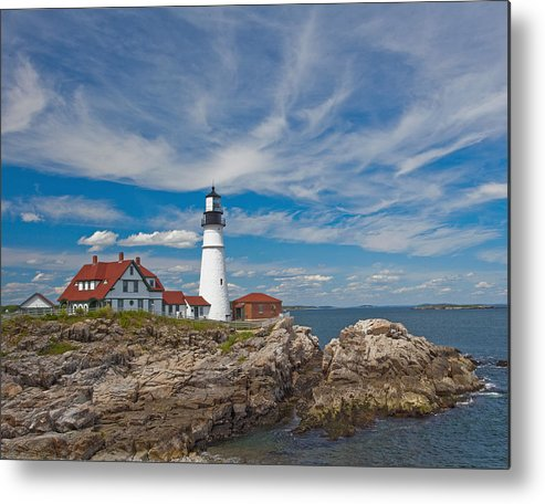 Portland Metal Print featuring the photograph Portland Lighthouse by Jack Nevitt