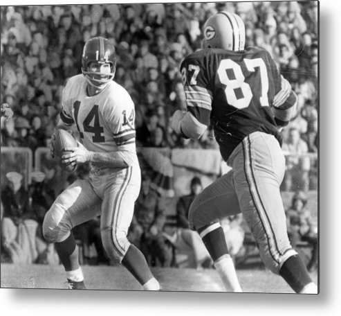 classic Metal Print featuring the photograph Y.a. Tittle by Retro Images Archive