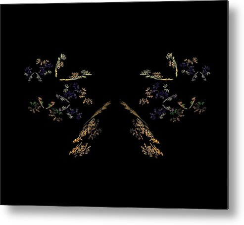 Fractal Metal Print featuring the painting What Do You See by Bruce Nutting
