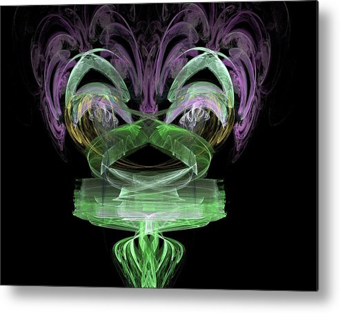 Abstract Metal Print featuring the painting What Do You See by Bruce Nutting