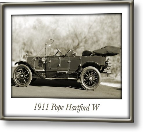 1911 Pope Hartford W Metal Print featuring the photograph 1911 Pope Hartford W by Jill Reger