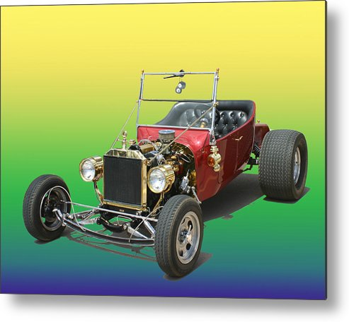 Ford Pinto Powered T Bucket Metal Print featuring the photograph 1923 Ford T Bucket by Jack Pumphrey