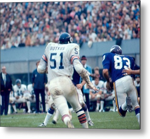 classic Metal Print featuring the photograph Dick Butkus by Retro Images Archive