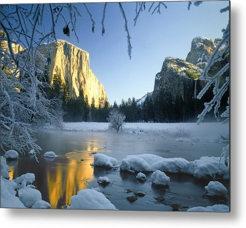 El Capitan Metal Print featuring the photograph 2m6538-yosemite Valley In Winter by Ed Cooper Photography