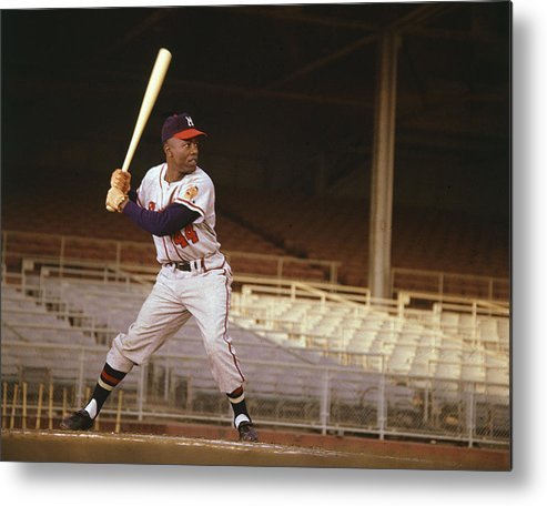 classic Metal Print featuring the photograph Hank Aaron by Retro Images Archive