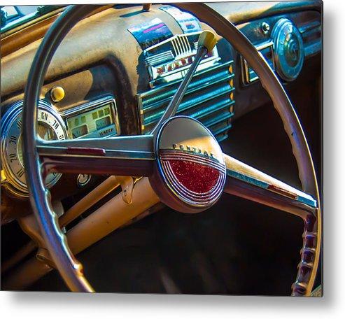 Classic Car Metal Print featuring the photograph 41 Pontiac Dashboard by Daniel Enwright