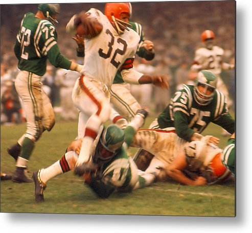 classic Metal Print featuring the photograph Jim Brown by Retro Images Archive