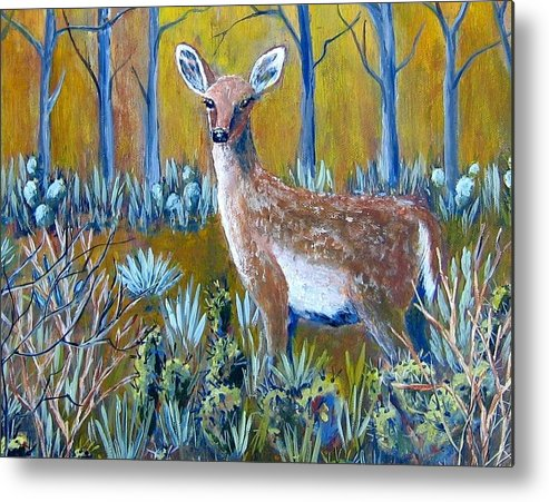 Landscape Metal Print featuring the painting A Little Rough Around The Edges by Suzanne Theis