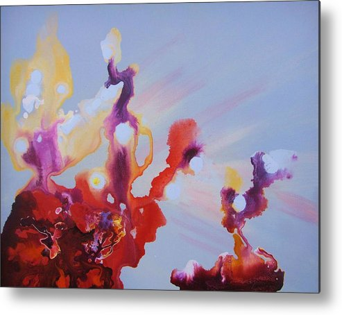 Metal Print featuring the painting A Ride To Subconsciousness by  Mira Pawlus