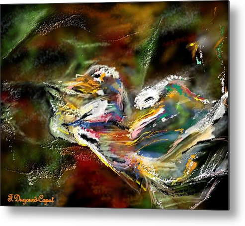 Abstract Metal Print featuring the painting Abstract 2 by Francoise Dugourd-Caput