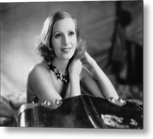 1920's Metal Print featuring the photograph Actress Greta Garbo by Underwood Archives
