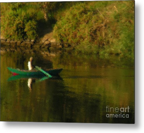 Boat Metal Print featuring the photograph Along The Nile by Christy Lang