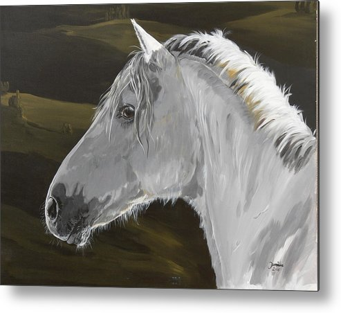 Horse Original Painting Metal Print featuring the painting Andalusian Foal by Janina Suuronen