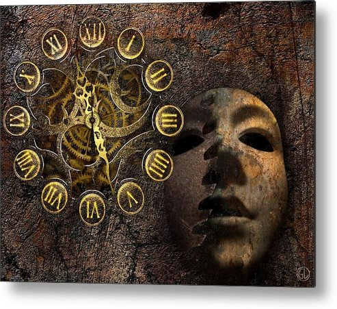 Clock Metal Print featuring the digital art As Time Goes By by Gun Legler