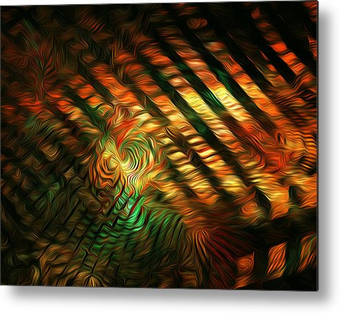 Abstract Metal Print featuring the photograph Below Abstract by Radoslav Nedelchev
