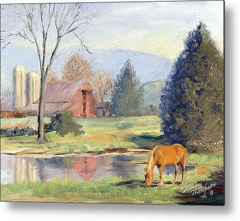 Landscape Metal Print featuring the painting Blondes Have More Fun by Tommy Thompson