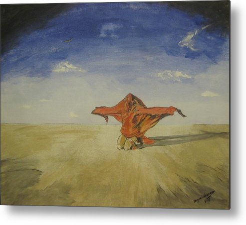 Wind Metal Print featuring the painting Born Free by Miguel Navarro