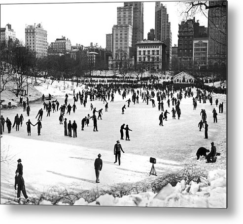 1938 Metal Print featuring the photograph Central Park Winter Carnival by Underwood Archives