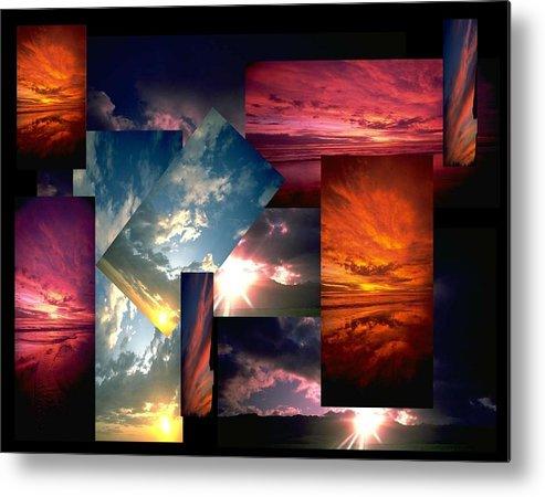 Sun Metal Print featuring the digital art Choose Your Own Sunrise by Darryl Kravitz