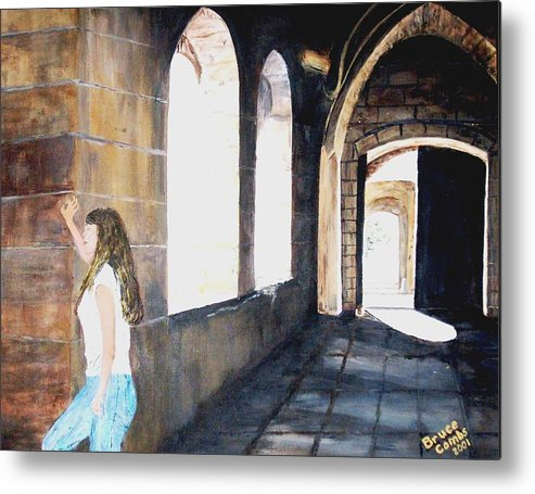 Cloisters Metal Print featuring the painting Cloisters by Bruce Combs - REACH BEYOND