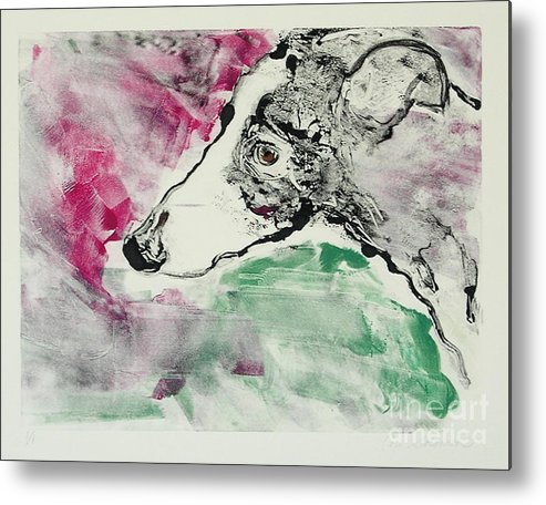 Greyhound Metal Print featuring the painting Cyrus by Cori Solomon
