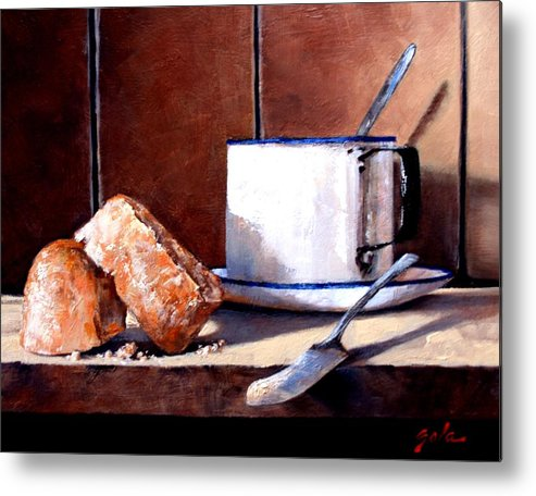 Still Life Metal Print featuring the painting Daily Bread Ver 2 by Jim Gola